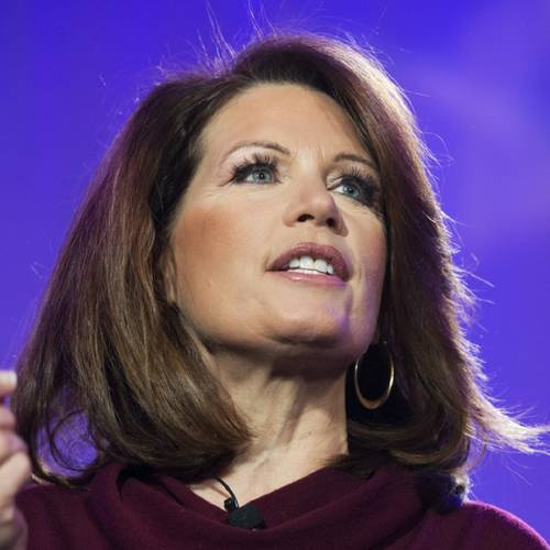 UNITED STATES - FEBRUARY 27: Rep. Michelle Bachmann, R-Minn., speaks during the Tea Party Patriots 5-year anniversary event at the Hyatt Regency on Capitol Hill. (Photo By Tom Williams/CQ Roll Call)