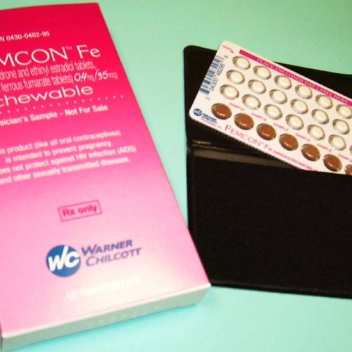 In this undated handout photo provided by Warner Chilcott, Femcon Fe, the first chewable birth-control method, is shown. Femcon Fe, containing the same hormones as standard oral contraceptives, offers a new option for women who don't like swallowing pills or are on the go and want to take their birth control with them, according to Carl Reichel, president of drugmaker Warner Chilcott. The company, which makes prescription dermatology and women's health products, officially launched the product Thursday, Dec. 7, 2006. (AP Photo/Warner Chilcott) ORG XMIT: NYBZ225