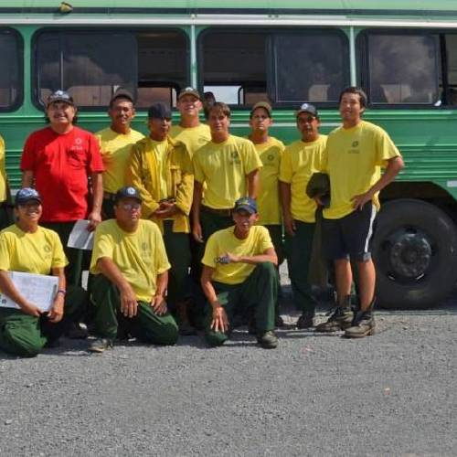 Members of the Cherokee Nation Fire Dancers left Tuesday for Oregon where they will join other firefighting teams battling blazes in northern California. (Provided)