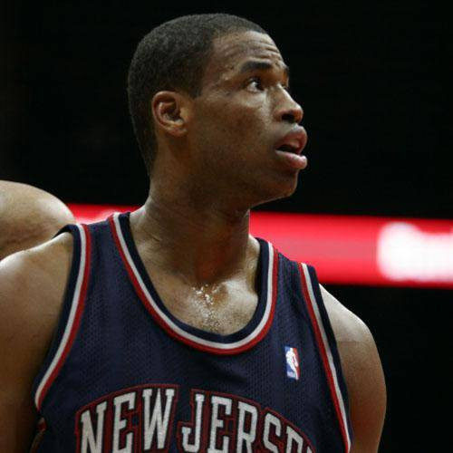 NBA Basketball: 11 December 2004 Nets' Jason Collins in Atlanta Hawks 95-90 loss to the New Jersey Nets at Philips Arena in Atlanta, Georgia.