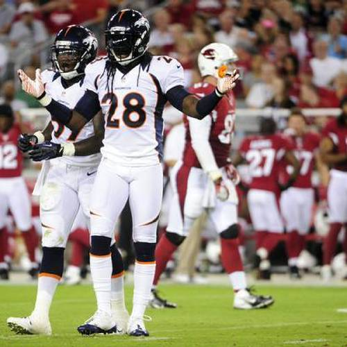 Denver Broncos free safety Quinton Carter (28) is confused against the Arizona Cardinals during the first quarter their final preseason game at the University of Phoenix Stadium in Glendale, Arizona on Thursday, August 30, 2023. AAron Ontiveroz, The Denver Post
