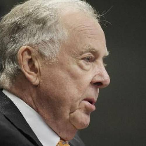 T. Boone Pickens is seen in this August 2012 photo by Doug Hoke.