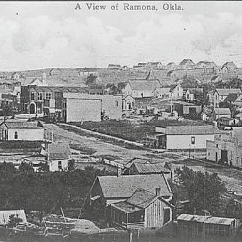 An early-day view of Ramona. (Bartlesville Examinder-Enterprise)