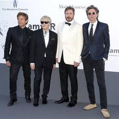 This May 23, 2013, file photo shows members of Duran Duran, from left: Roger Taylor, Nick Rhodes, Simon Le Bon, and John Taylor. (Photo by Todd Williamson/Invision/AP, File)