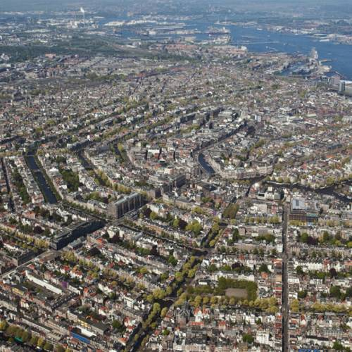 The Netherlands, Holland, Amsterdam, Aerial