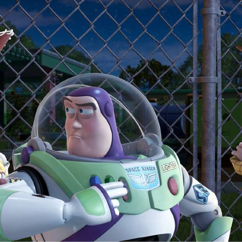 "FILE - In this undated film publicity image released by Disney, from left, Jessie, voiced by Joan Cusack, Buzz Lightyear, voiced by Tim Allen and Woody, voiced by Tom Hanks are shown in a scene from, ""Toy Story 3."" With more than 5,000 fans expected to attend, Disney is teasing several of the studio's upcoming animated movies at the D23 Expo, Aug. 9-11, 2013, a three-day celebration of all things Disney at the Anaheim Convention Center. (AP Photo/Disney Pixar)"