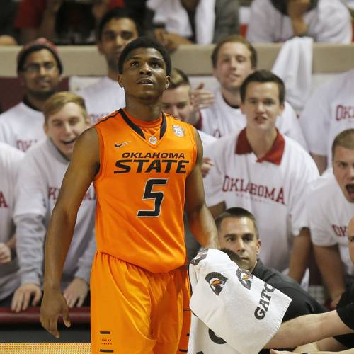 Former Oklahoma State guard Stevie Clark has reportedly signed with Indian Hills Community College in Iowa. Photo by Nate Billings, The Oklahoman