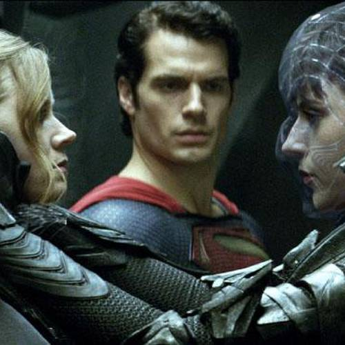 "(L-r) AMY ADAMS as Lois Lane, HENRY CAVILL as Superman and ANTJE TRAUE as Faora-Ul in Warner Bros. Pictures' and Legendary Pictures' action adventure ""MAN OF STEEL,"" a Warner Bros. Pictures release."