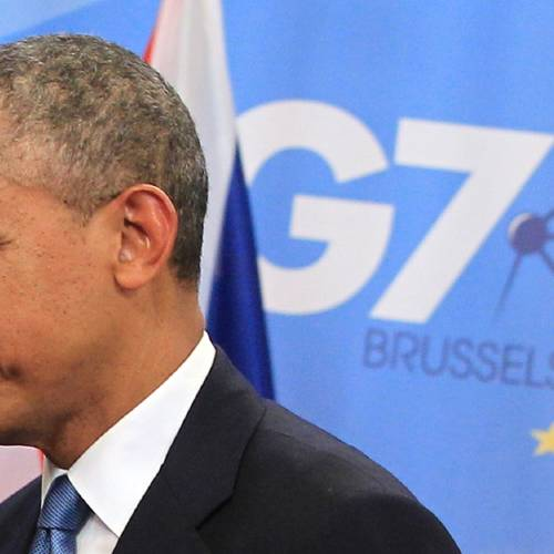 U.S. President Barack Obama arrives for a G7 summit at the EU Council building in Brussels on Wednesday, June 4, 2014. The leaders of the Group of Seven will participate in a two day meeting in which they will discuss among other issues, the situation in Ukraine. (AP Photo/Yves Logghe)