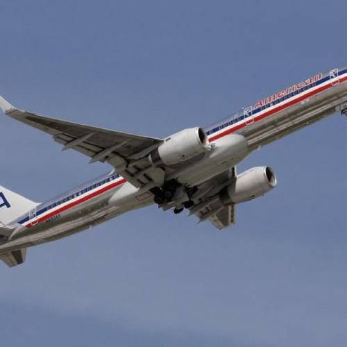 An American Airlines' plane headed to Dallas, Texas takes off from the Tulsa International Airport, on Thursday, Aug. 15, 2013. CORY YOUNG/Tulsa World File