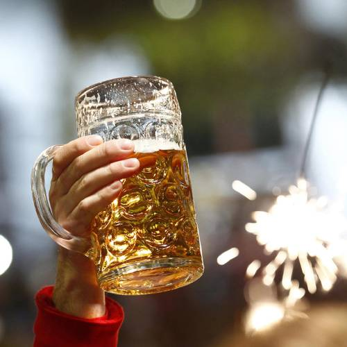 A beer is pictured at the last day of the world's biggest beer festival, the 180th Oktoberfest, in Munich October 6, 2013. REUTERS/Michaela Rehle (GERMANY - Tags: SOCIETY FOOD)