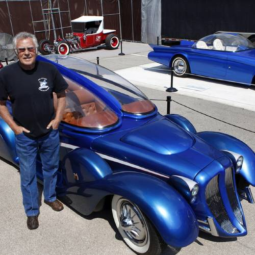Custom car builder and designer Darryl Starbird has brought a half-dozen of his cars from the National Rod & Custom Car Hall of Fame Museum to the Oklahoma State Fair. The museum is located in Afton. This photo taken Monday, Sep. 17, 2012, Photo by Jim Beckel, The Oklahoman.