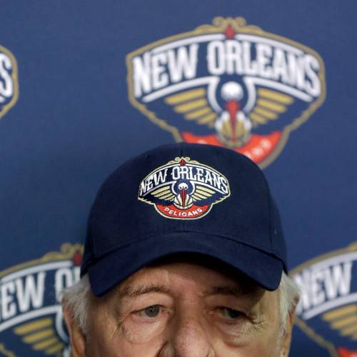New Orleans Hornets owner Tom Benson speaks at a news conference announcing that the NBA basketball team's name will change from the Hornets to the Pelicans starting next season, Thursday, Jan. 24, 2013, in New Orleans. (AP Photo/Gerald Herbert) ORG XMIT: LAGH102