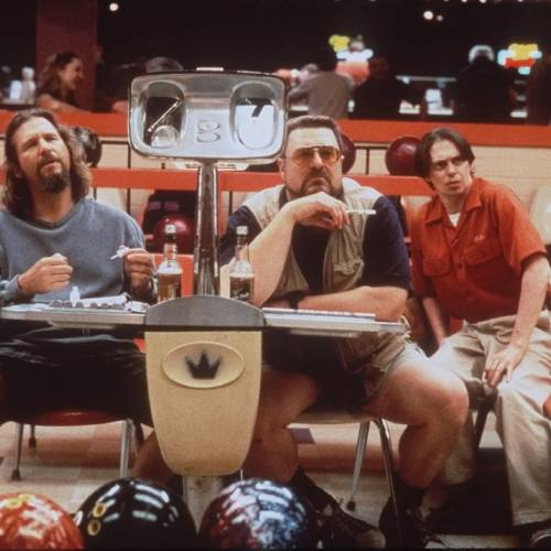 """FILE - In this undated file photo released by Gramercy Pictures, Jeff Bridges, left, John Goodman, center, and Steve Buscemi appear in a scene from the motion picture """"The Big Lebowski."""" (AP Photo/Gramercy Pictures)"""