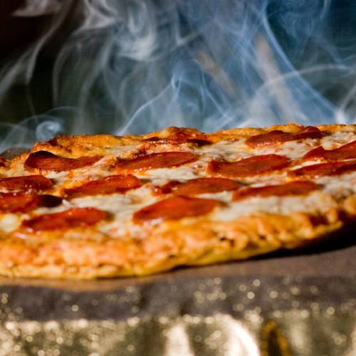 Steaming Pizza
