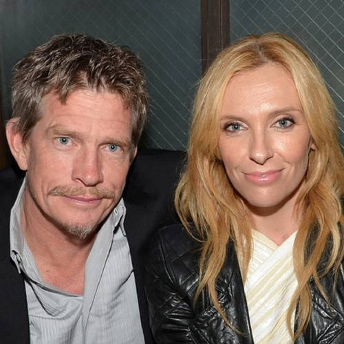 """NEW YORK, NY - APRIL 21: Actors Thomas Haden Church and Toni Collette attend the """"Lucky Them"""" Premiere after party during the 2014 Tribeca Film Festival at Sweetwater Social on April 21, 2014 in New York City. (Photo by Mike Coppola/Getty Images for the 2014 Tribeca Film Festival)"""