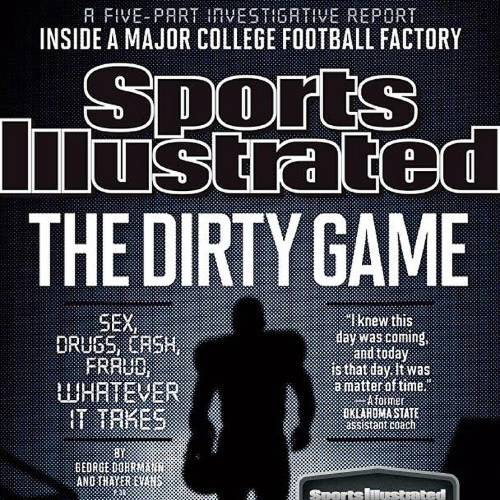 """Pictured is the Sports Illustrated magazine cover from September 2013, """"The Dirty Game."""""""