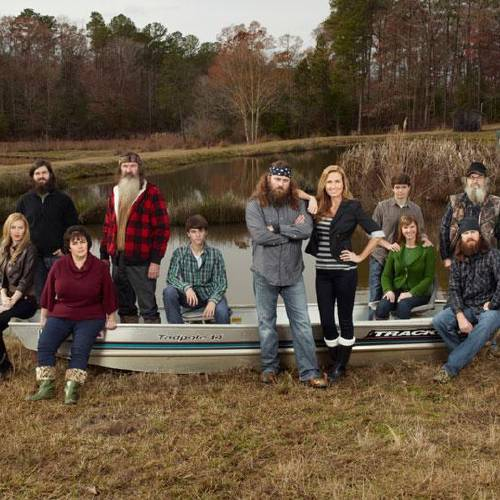 The Robertson family from A&E's Duck Dynasty Photo by Photo by Zach Dilgard