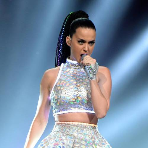 "WASHINGTON, DC - JUNE 24: (Editorial Use Only) Katy Perry performs onstage during ""The Prismatic World Tour"" at the Verizon Center on June 24, 2014 in Washington, DC. (Photo by Kevin Mazur/WireImage)"