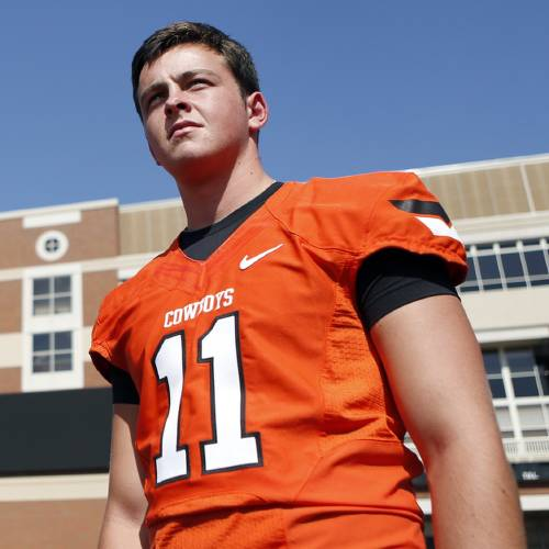OSU's Wes Lunt spoke with the media Wednesday. Photo by Sarah Phipps, The Oklahoman Archives