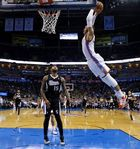 PHOTOS: A cool look at Russell Westbrook's monster alley-oop from Kevin Durant