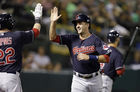 Salazar gives up 1 hit in 8 innings as Indians beat  A's