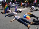 'Trans and queer' illegals hold 'die-in' at White House | WashingtonExaminer.com