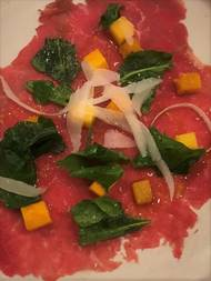 Carpaccio from the Kitchen at Commonplace Books. [Dave Cathey/The Oklahoman]