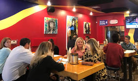 Lunch crowd gathering at Notorious P.I.E. in Norman. [Dave Cathey/The Oklahoman]