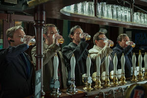 "Photo - From left, Martin Freeman as Oliver, Paddy Considine as Steven, Simon Pegg as Gary, Nick Frost as Andy, and Eddie Marsan as Peter in Edgar Wright's ""The World's End."" FOCUS FEATURES PHOTO   <strong></strong>"