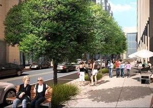 Photo - Several streets are being eliminated from Project 180, and others, including reconstruction of Park Avenue shown in this drawing, will be delayed. Drawing provided