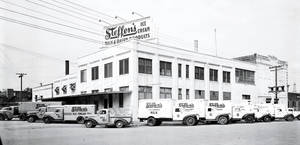 photo - Steffens Ice Cream at 101 E Main is shown in this 1946 photo. The dairy operated at the site for several decades. Developers are set to demolish the structure next month and replace it with a Holiday Inn Express. PHOTO PROVIDED
