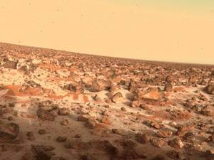 Photo - Is there life on Mars? The Viking Lander 2 captured an unusual image of the Martian surface in 1979 sporting a thin layer of seasonal water ice. Photo courtesy of NASA <strong></strong>