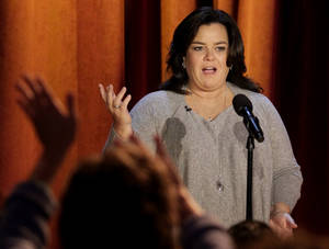 "Photo - FILE - In this Thursday, Oct. 6, 2011, file photo, Rosie O'Donnell talks to the audience during a taping of her show in Chicago. ""The View"" announced Monday, Jan. 27, 2014, that O'Donnell will be a guest on the daytime gabfest on Feb. 7. (AP Photo/Nam Y. Huh, File)"