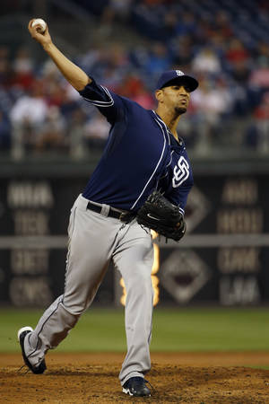 Photo - San Diego Padres' Tyson Ross pitches during the third inning of a baseball game against the Philadelphia Phillies, Wednesday, June 11, 2014, in Philadelphia. (AP Photo/Matt Slocum)
