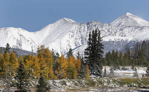 "Photo - In this Oct. 5, 2013 file photo, fresh snow covers Torreys Peak, right, and Grizzly Peak, left, east of Frisco, Colo. In the run up to the Super Bowl between the Broncos and the Seahawks, Colorado Gov. John Hickenlooper announced Wednesday, Jan. 29, 2014  that he's temporarily re-naming Colorado's highest mountains for each member of the Denver Broncos. The state is home to more than 50 mountains over 14,000 feet, called ""14-ers"" by locals. Torreys Peak has been named after Broncos wide receiver Demaryius Thomas. (AP Photo/Brennan Linsley, File)"