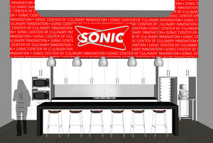Photo - An artist's rendering of new Sonic test kitchen.  Provided by RTMA