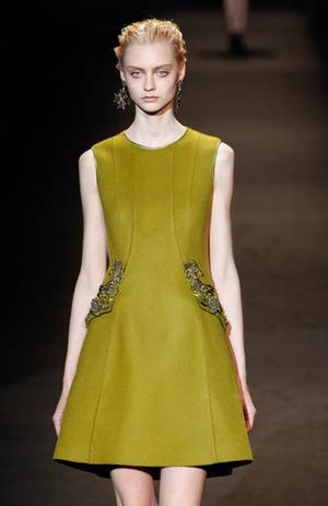 Photo - From the Alberta Ferretti collection seen Wedensday, Feb. 20, during Milan Fashion Week. Photography by Peter Stigter