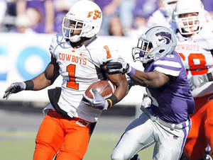 Photo - Running back Joseph Randle was the surprise of the 2010 recruiting class, becoming an offensive force in midseason for Oklahoma State.  Photo by Chris Landsberger, The Oklahoman