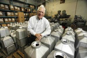 photo - Phil Parduhn, president of Edmond-based Pelco Products Inc., shows some of the company's products. Photo By Paul Hellstern, The Oklahoman       <strong></strong>