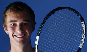 Photo - HIGH SCHOOL TENNIS: All-City tennis player Nate Roper in Oklahoma City, Tuesday, May  29  2012. Photo By Steve Gooch,