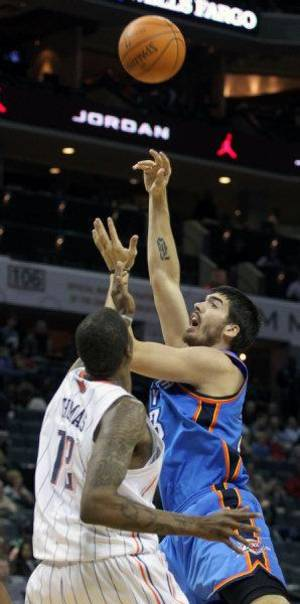 Photo - The Oklahoma City Thunder have recalled Byron Mullens from the Tulsa 66ers of the NBA Developmental League. AP PHOTO <strong>Bob Leverone</strong>