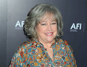 "Photo -   FILE - This Jan. 27, 2012 file photo shows actress Kathy Bates arriveing at the Australian Academy of Cinema and Television Arts Awards at the Soho House, in Los Angeles. Bates says she is recovering from a double mastectomy. The Oscar-winning actress tweeted on Wednesday, Sept. 12, that she was diagnosed with breast cancer two months ago. But in a separate post, she said she doesn't miss her breasts as much as ""Harry's Law,"" her NBC law drama that was canceled last May. Bates, 64, told People magazine that she won't have to undergo radiation or chemotherapy. (AP Photo/Katy Winn, file)"