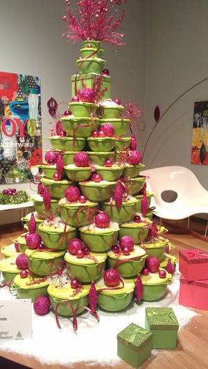 Photo - This Tupperware tree was featured this year at the Orlando Museum of Art's Festival of Trees, Photo by Marni Jameson