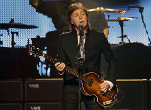 "Photo - Paul McCartney, seen here performing during the first U.S. concert of his ""Out There"" Tour on May 18 in Orlando, Fla., will perform at 8 p.m. Thursday at BOK Center, 200 S Denver, in Tulsa. His Wednesday show at the venue is sold out. For information, call (918) 894-4200.  AP PHOTO <strong>John Raoux</strong>"