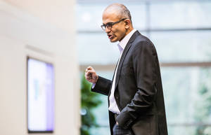 Photo - This undated photo provided by Microsoft shows Satya Nadella. Microsoft announced Tuesday, Feb. 4, 2014,  that Nadella will replace Steve Ballmer as its new CEO.  Nadella will become only the third leader in the software giant's 38-year history, after founder Bill Gates and Ballmer. Board member John Thompson will serve as Microsoft's new chairman.  (AP Photo/Microsoft)