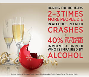 Photo - Alcohol-Related Traffic Deaths Jump on Christmas and New Year's.  (PRNewsFoto/National Institute on Alcohol Abuse and Alcoholism)