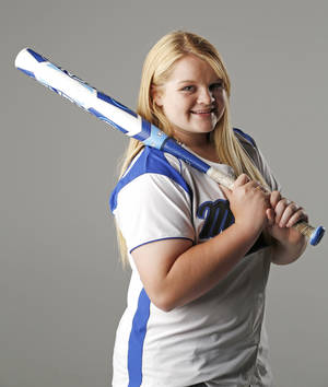 Photo - HIGH SCHOOL SOFTBALL: Slowpitch Softball Player of the Year, Halle Melone, Moore, May 23, 2013. Photo by Doug Hoke, The Oklahoman