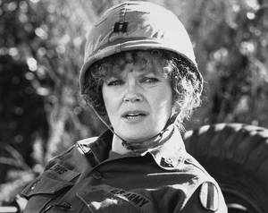 "Photo - FILE - In this 1980 file image released by Warner Brothers Pictures, actress Eileen Brennan as Capt. Doreen Lewis in a scene from, ""Private Benjamin.""  Brennan's manager, Kim Vasilakis, says Brennan, died Sunday, July 28, 2013, in Burbank, Calif., after a battle with bladder cancer. She was 80.  (AP Photo/Warner Brothers Pictures, File)"