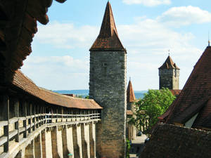 Photo -  Rothenburg's wall--with its beefy fortifications and intimidating gates-- provides great views and a good orientation. (Photo credit: Matt Yglesias)